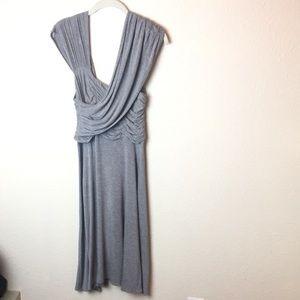 Plenty by Tracy Reese asymmetrical dress gray Sz L